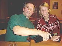 Joe und Edmée July 2004 vor der Abreise