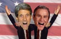Présentation amusante (flash) des élections en amérique 2004